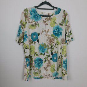 JM Collection, short sleeved blouse.